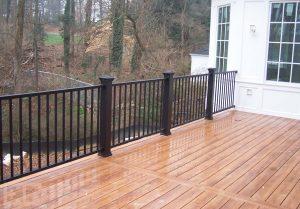 Deck with Metal Railings